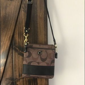 Over the shoulder coach bag and matching wallet